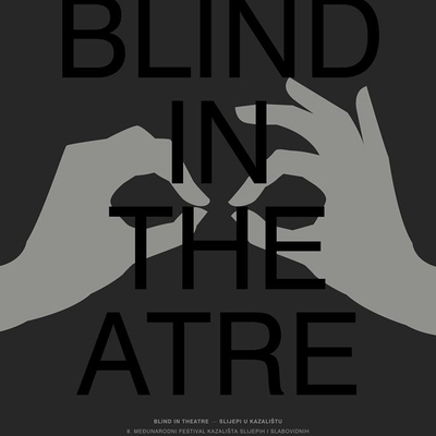 Plakat za festival Blind in theatre