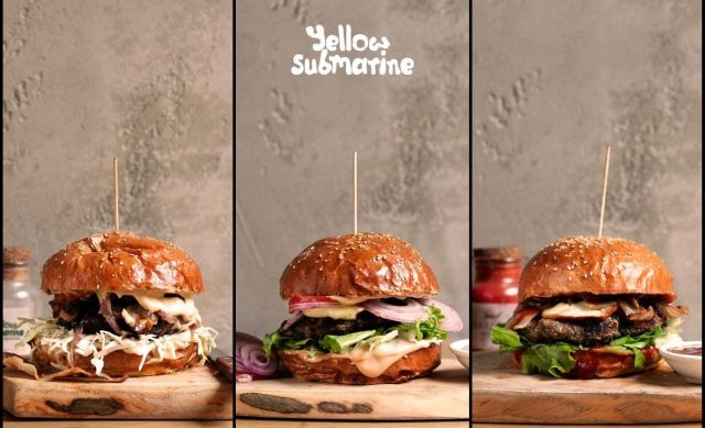 Yellow Submarine Burger - Sliders
