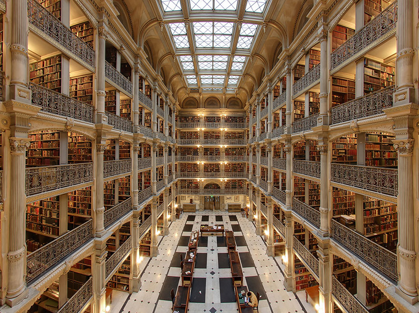 The George Peabody Library, Baltimore USA