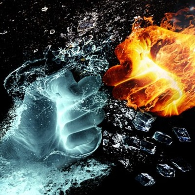 https://pixabay.com/en/fire-and-water-fight-hands-fire-2354583/