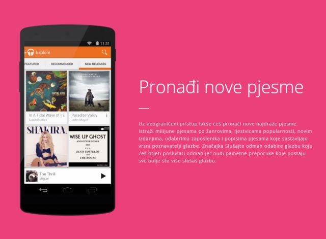 Google Play Music glazbeni servis