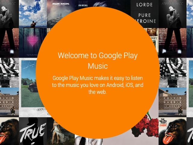 Google Play Music naslovna