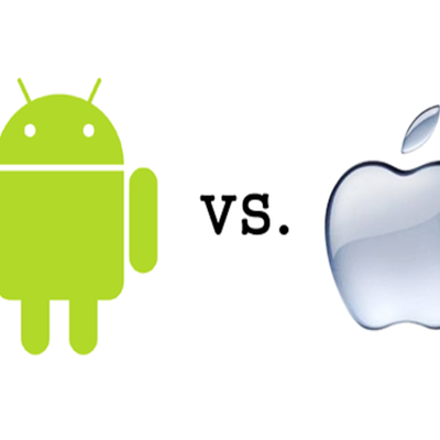 Ilustracija Android vs. iOS