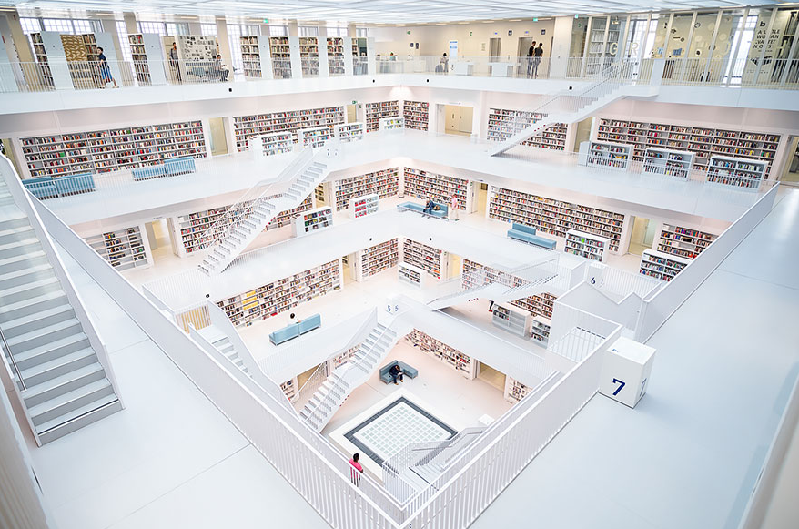 The City Library, Stuttgartt, Germany