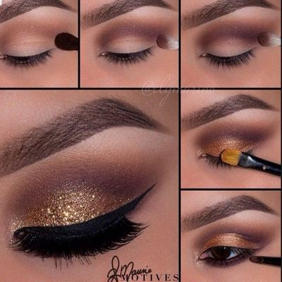 Novogodišnji make-up: How to? Golden Glitter.
