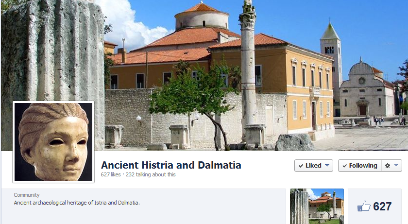 facebook stranica Ancient Histria and Dalmatia