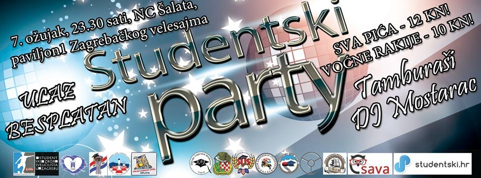 Veliki studentski party novi datum